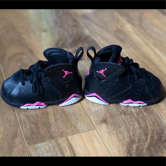 finest selection c6881 7015f Nike Air Jordan's-Retro 7's Black/Pink/White-Size6